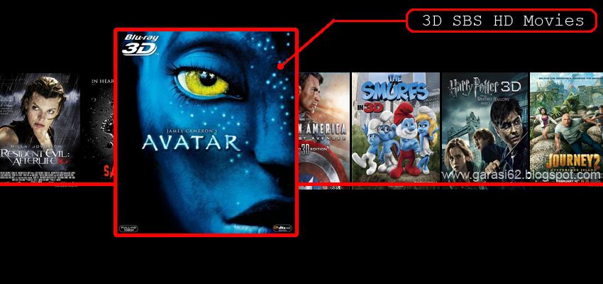 anaglyph 3d movie list