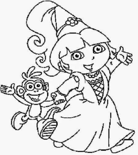 Coloring Sheets For Kids Dora Best Page Online