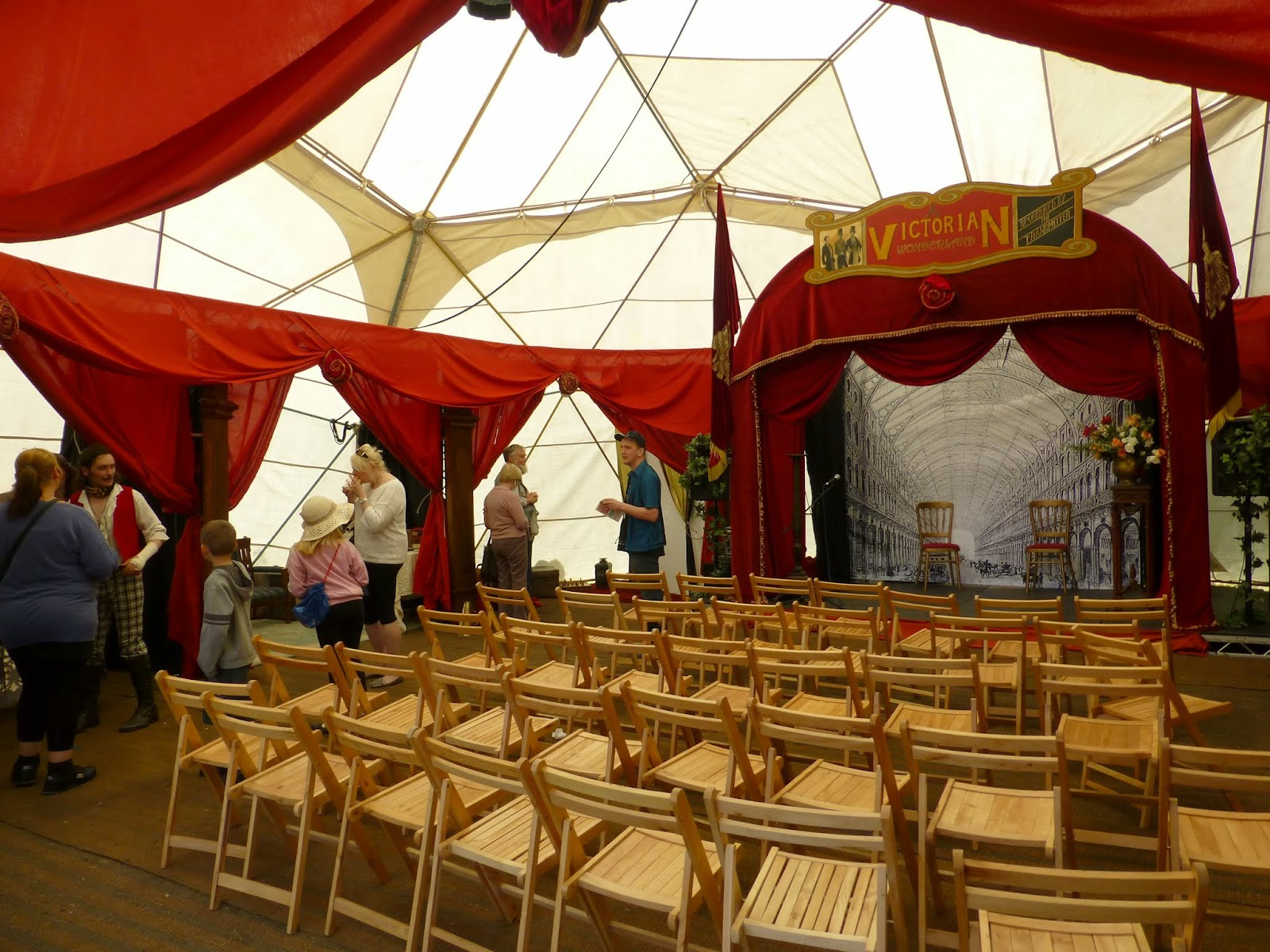 ...and a performing arts tent which had a Victorian theme to it though not much going on when I looked in. & Crystal Palace Overground Festival | Glass Half Full