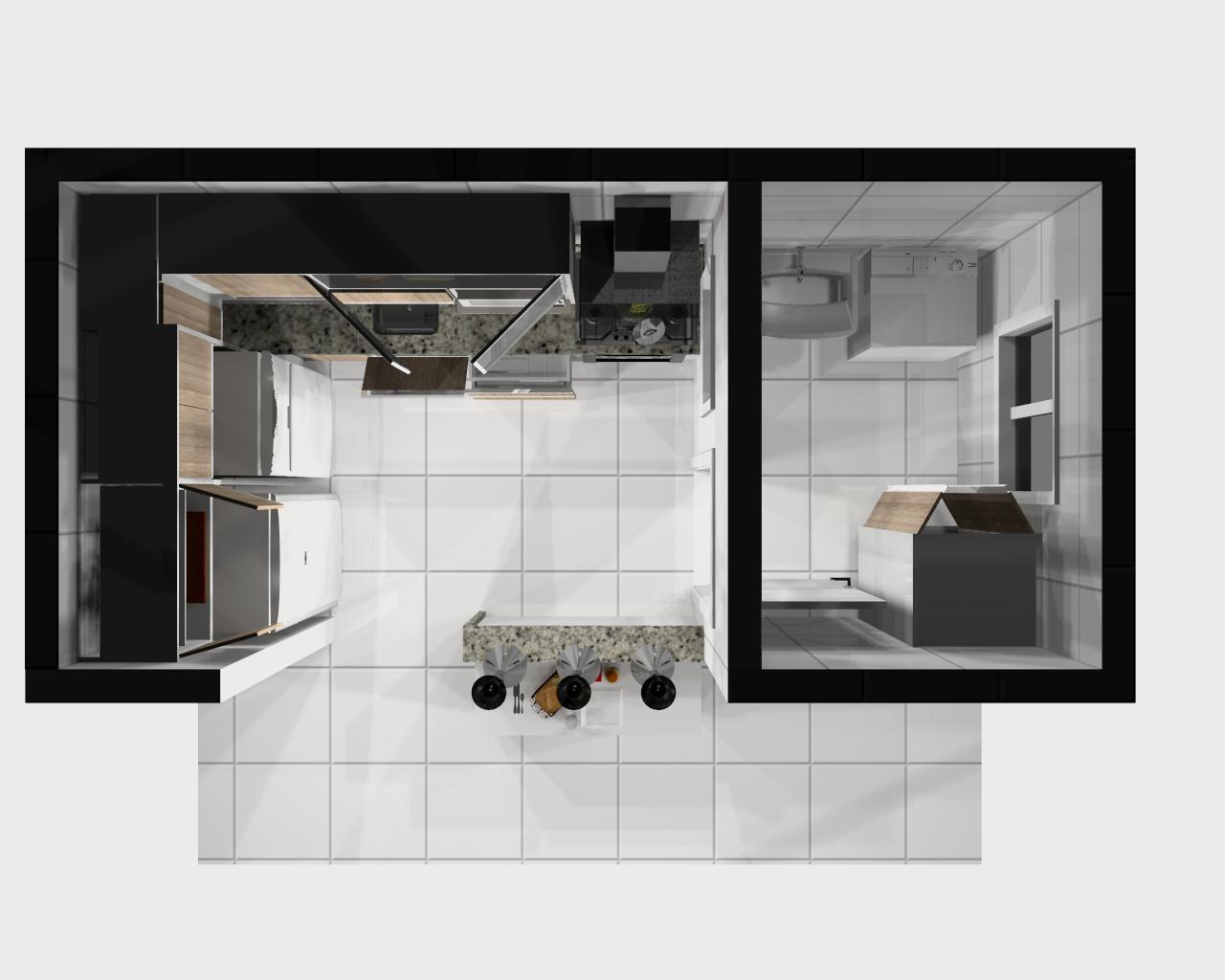 Um estudio de decoracoes.: Cozinha Branca com Teka Barcelona granito  #756656 1280 1024