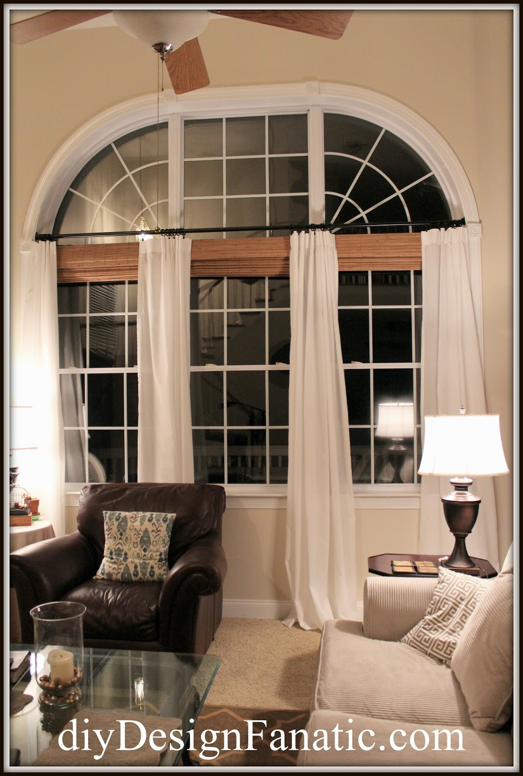 Diy design fanatic: new window treatments for the family room