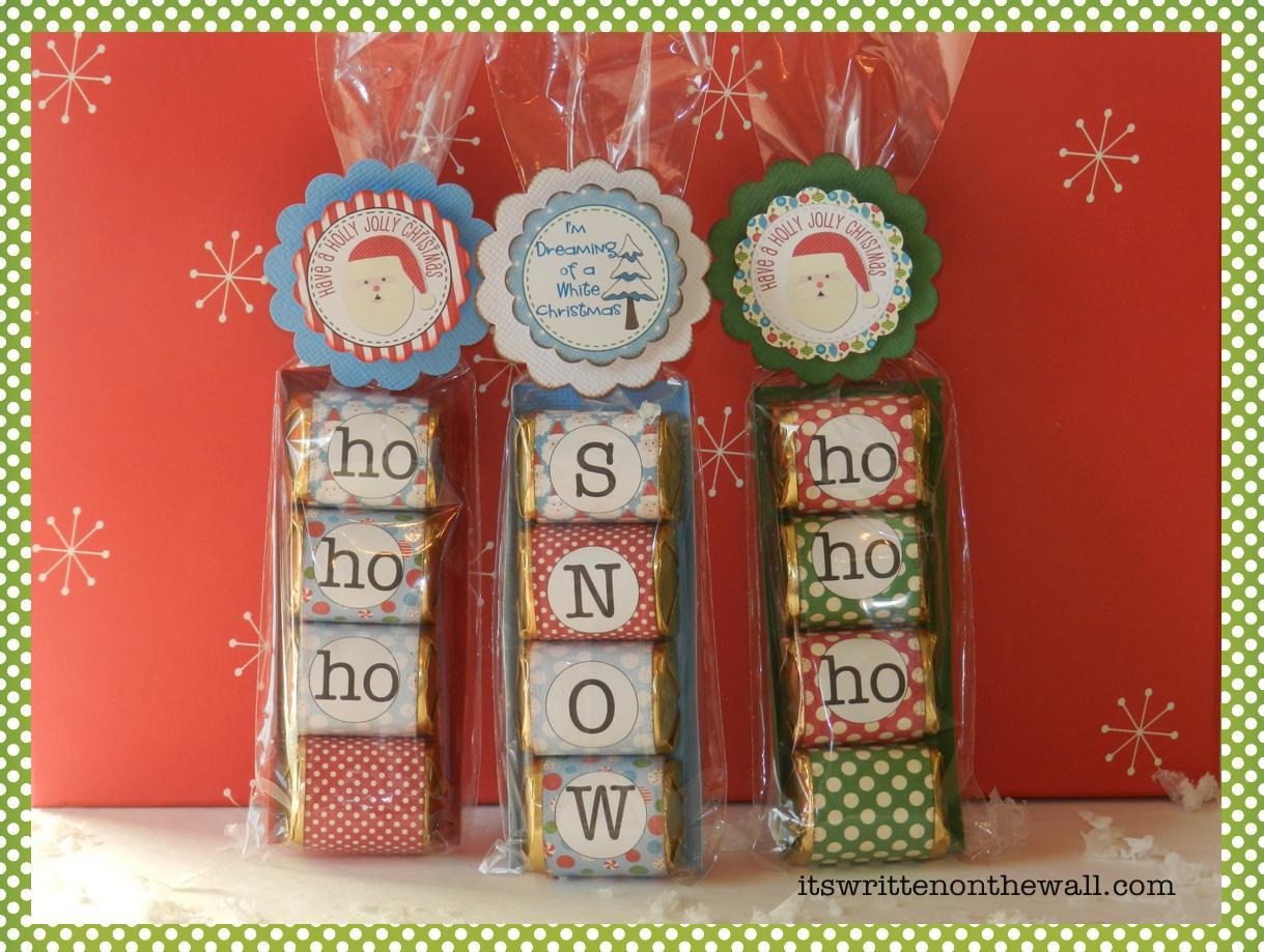 Freebies Christmas Hershey Nugget Treat Tray Printables ...