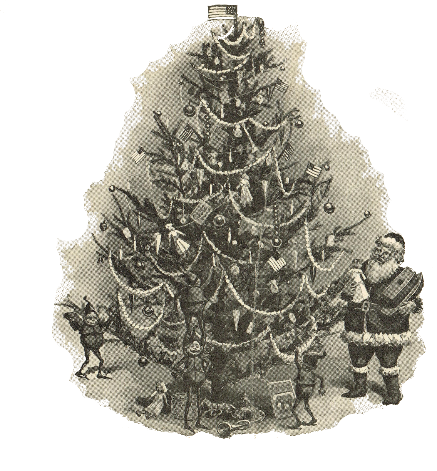 Antique Christmas Tree Printable Image Knick Of Time