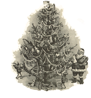 Antique Christmas tree image - KnickofTime.net