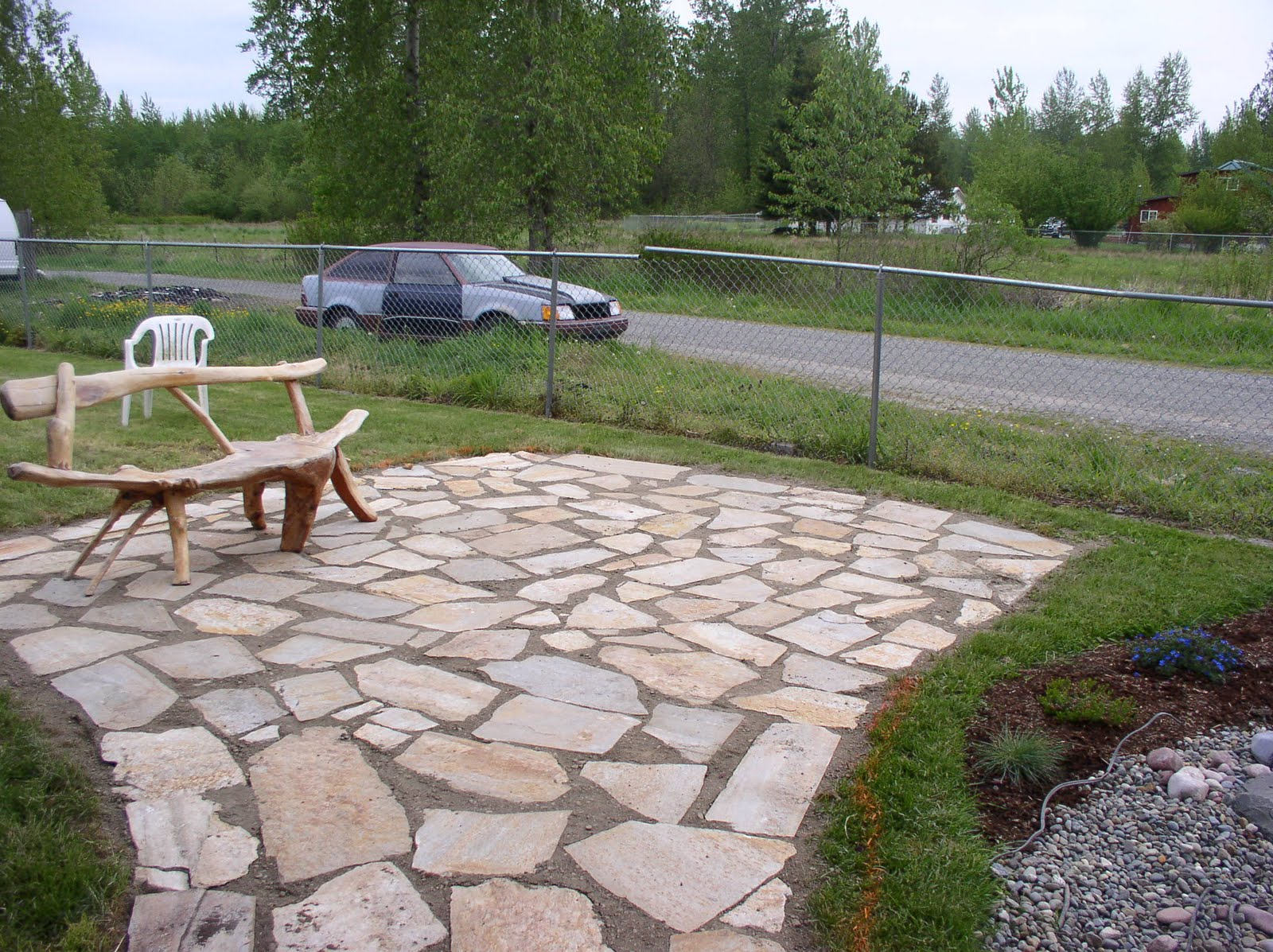 """type of flagstone varies in color and texture to accommodate any """"look ..."""