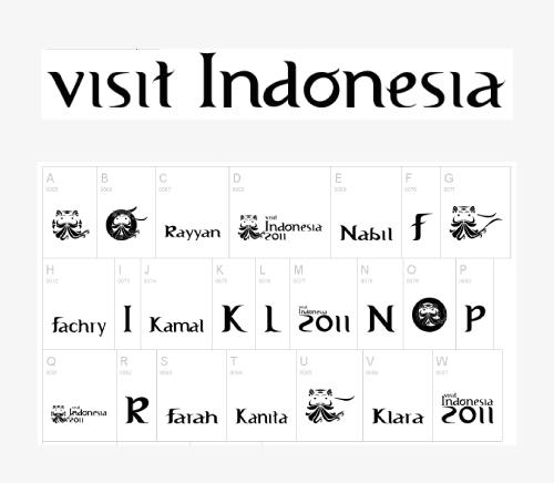 Kumpulan Font Khas Indonesia Karya Anak Bangsa