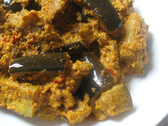 eggplant with tahini and mustard