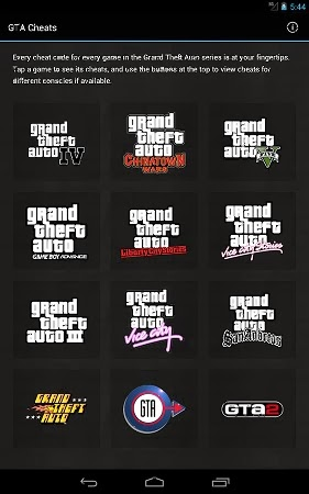 GTA Game Cheats free for Android