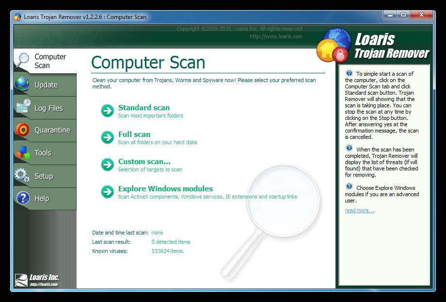 Loaris Trojan Remover 1.3.2 очистити комп'ютер від різного семейству загроз