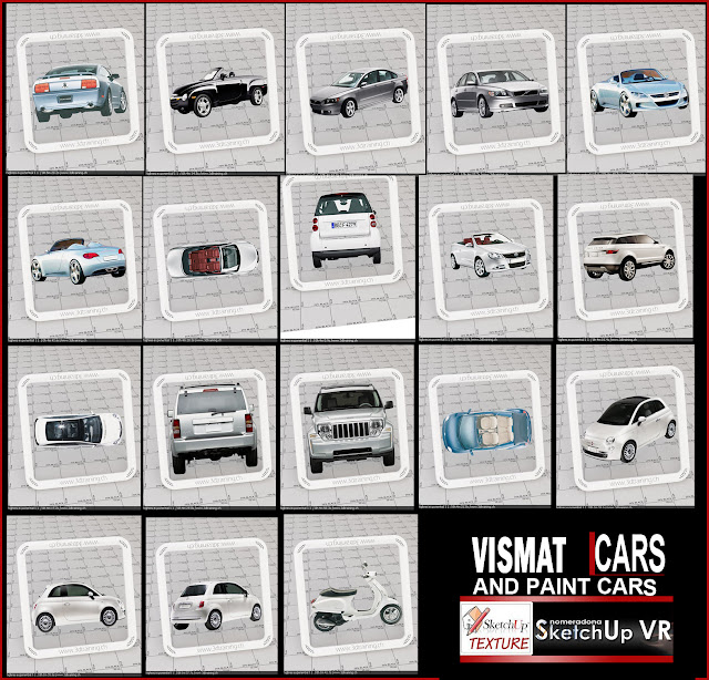 vray for sketchup vismat cars