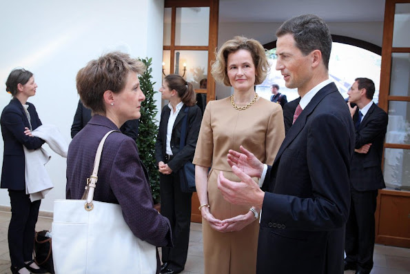 President of the Swiss Confederation, Mrs Simonetta Sommaruga and HSH Hereditary Prince Alois and HRH Hereditary Princess Sophie of Liechtenstein