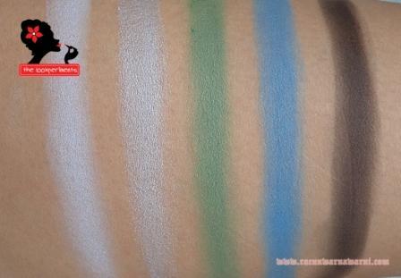 warna hitam putih merah hijau coklat gelap dan biru muda