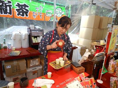 A green tea tasting kiosk at the Meiji Jingu Shrine, Tokyo