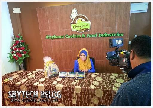 Sidang Media Bersama Pengarah Urusan Aisyhana Cookies