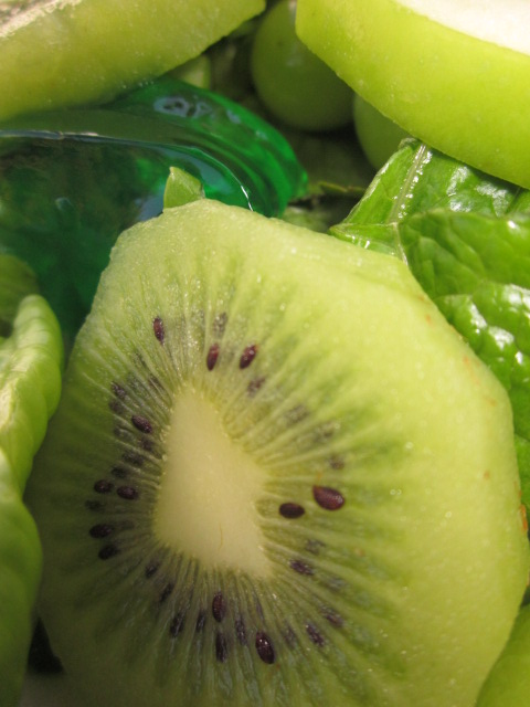 Fresh Kiwi is amazing in a green salad