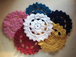 Crochet Yarn For Beginners : Doilies are so retro, and now you can make your own in any colour you ...