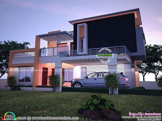 Contemporary model India house plan