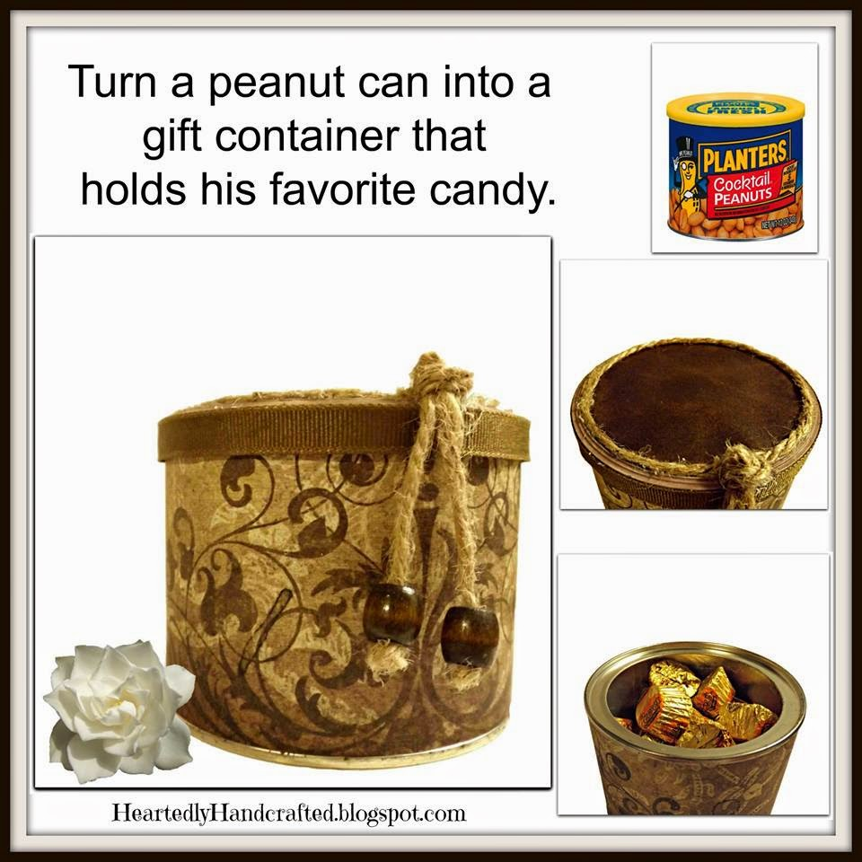 Repurpose a Peanut Can for Gift Giving