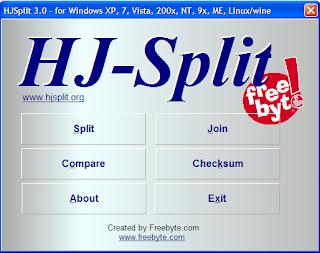 Menggabung file dengan HJSplit