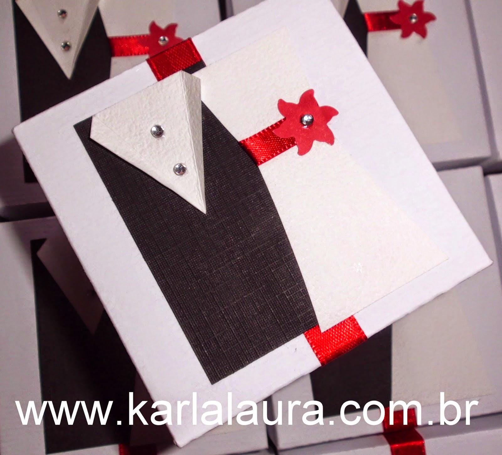 Caixa para Bem Casados - modelo noivinhos na mesma caixa