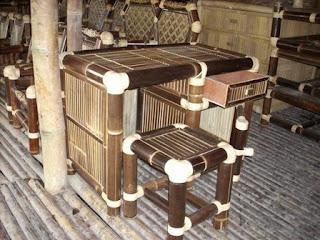 meja bambu