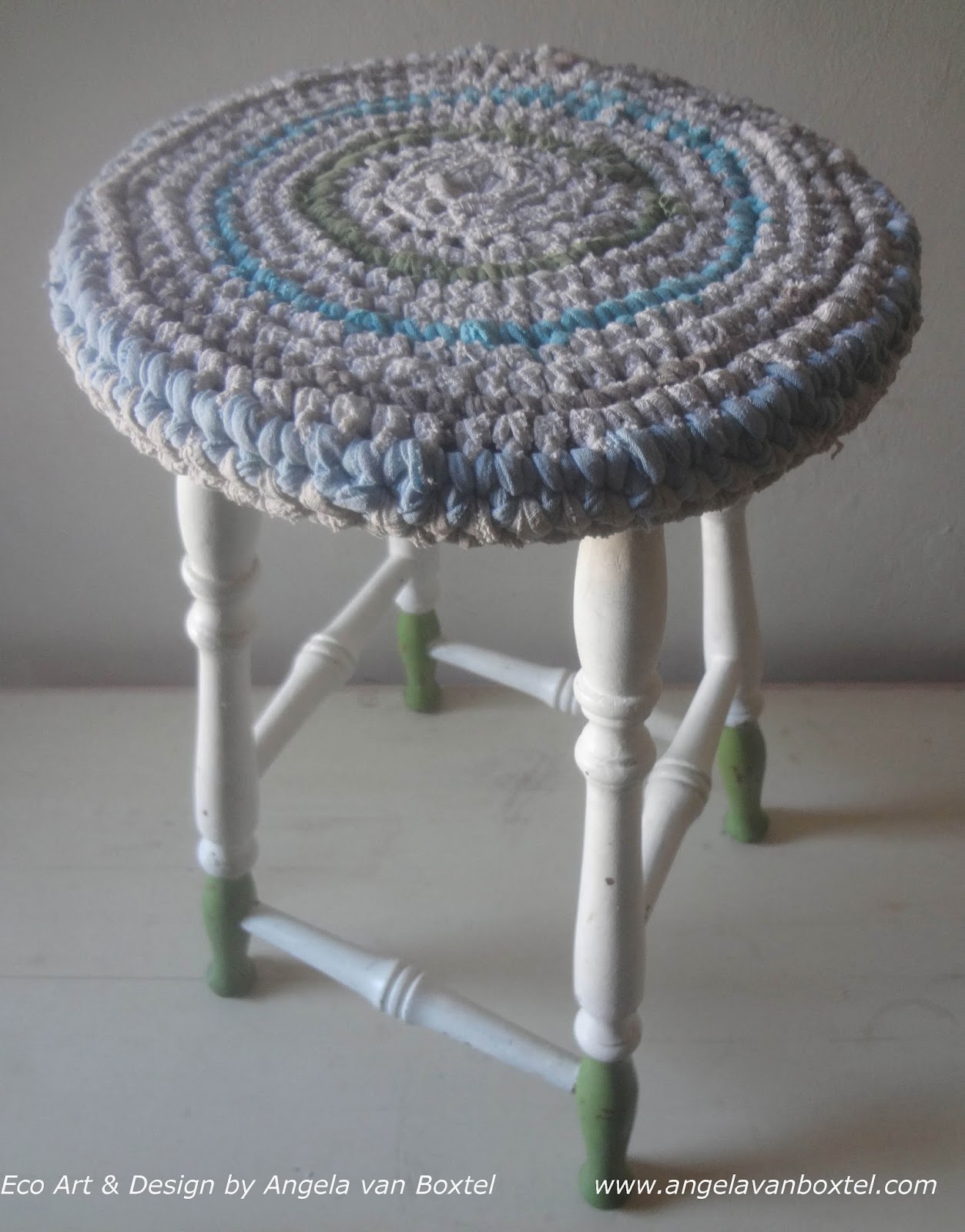 Stool Cover Crochet | Green with Envy