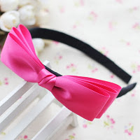 Pink bow hairband -- HA712 Price:RM18 per pc