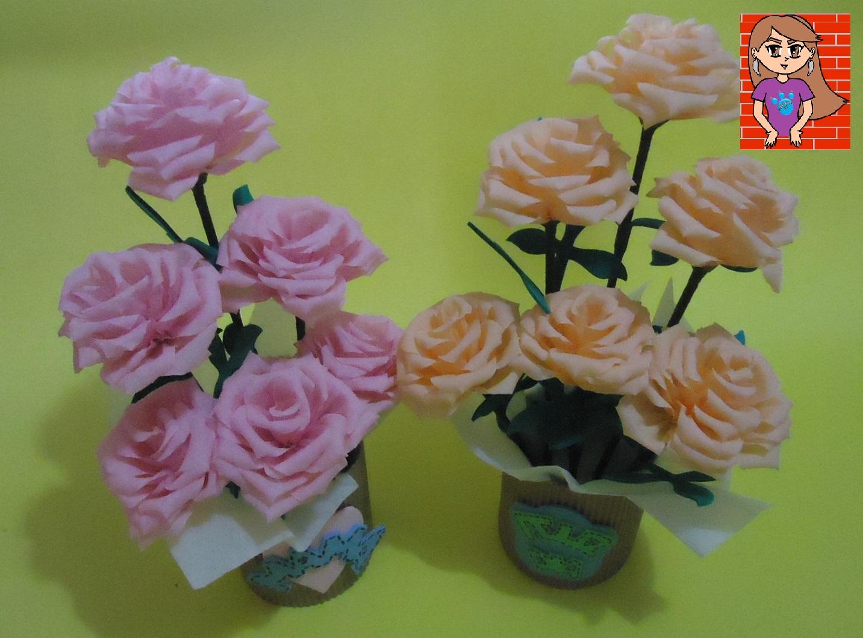 Arreglo De Flores Con Papel