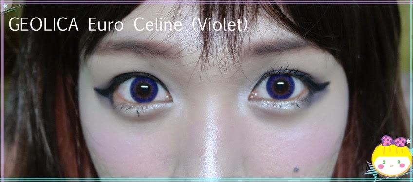 Geolica Euro Celine Violet : Violet Lenses for Less Drama