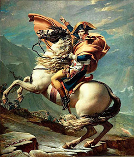 Boney M band name history - Napoleon crossing the Alps - Jacques-Louis David