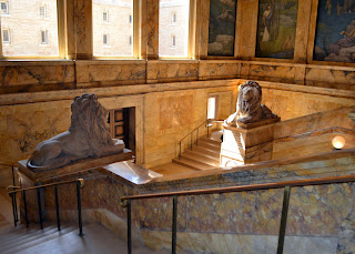 Boston Public Library Main Staircase Lions