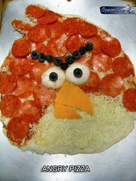 funny angry bird pizza