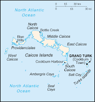 Turks and Caicos Islands map.