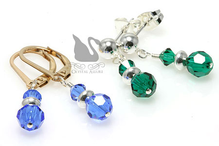 Joyce's Custom Swarovski Crystal Stack Earrings (E044-E047)