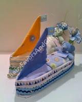 Sail boat Diaper cakes
