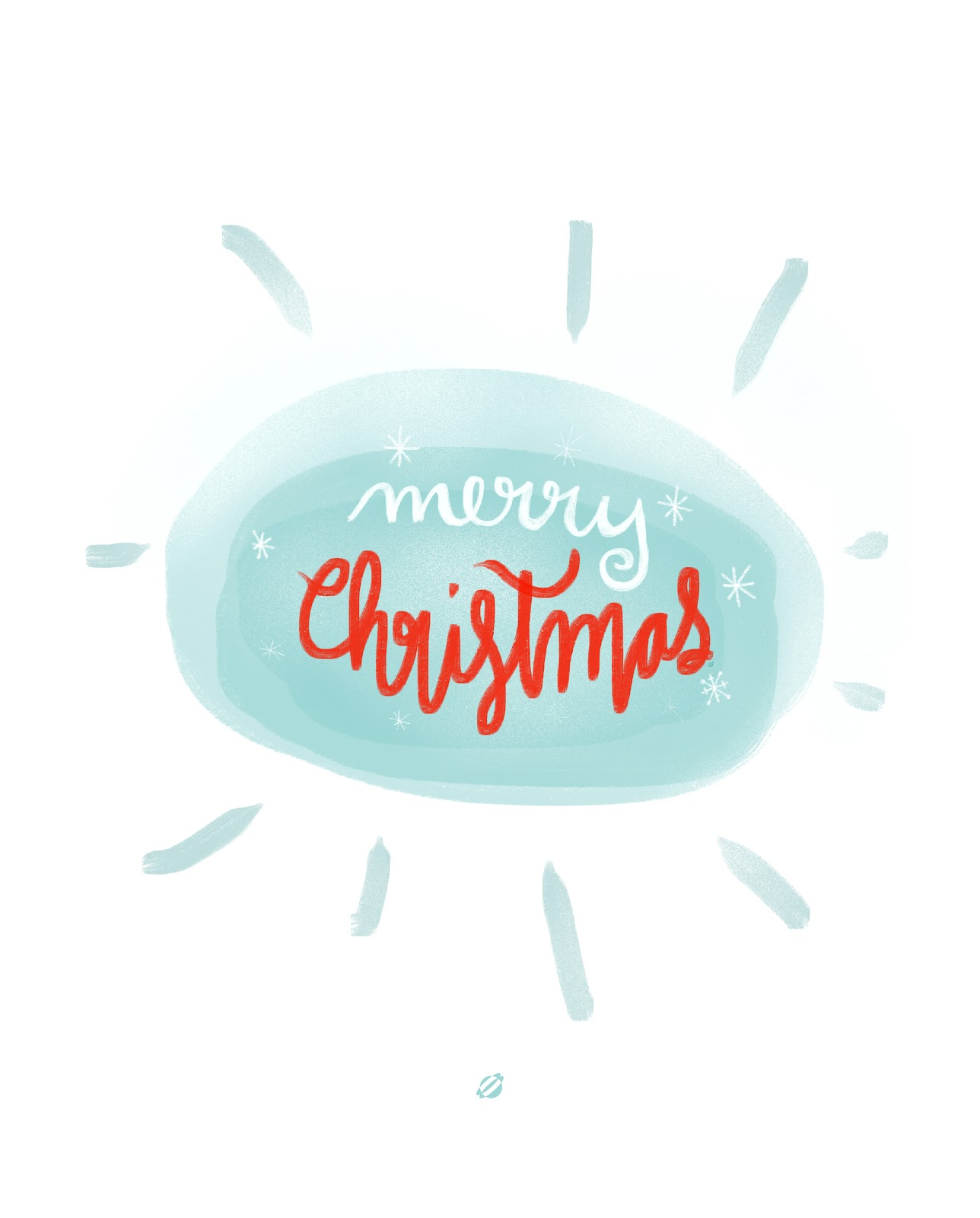LostBumblebee ©2014 MDBN : Merry Christmas : Free Printable : Personal Use Only