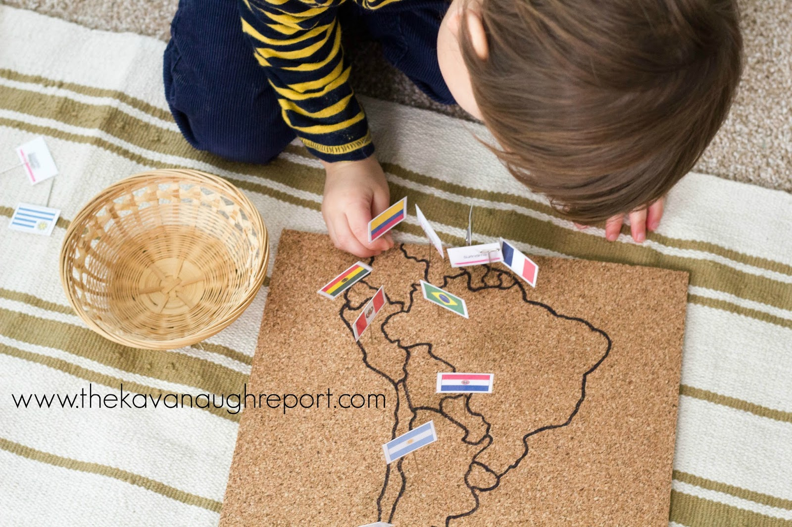 Diy montessori flag pin map next you need to cut the tracing paper around the outside of the continent leaving all the countries intact once that is complete you can use the marker gumiabroncs Images