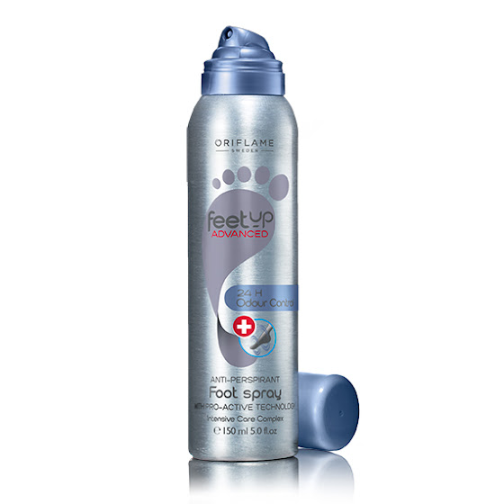 Spray Antitranspirante 24 H para Pés Odour Control Feet Up Advanced da Oriflame