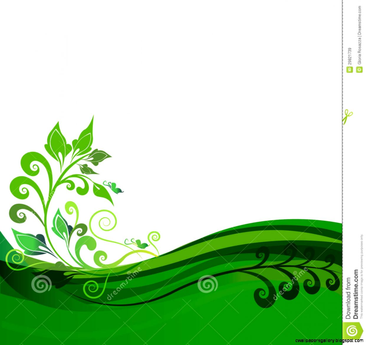 Green Fl Background Design Royalty Free Stock Images   Image
