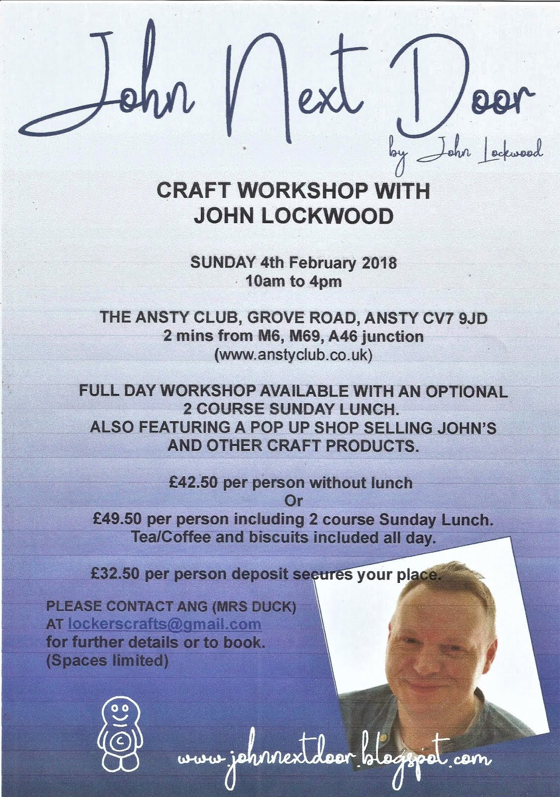 NEXT ANSTY WORKSHOP 4/2/2018