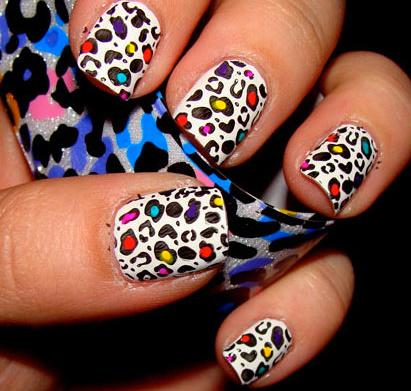 unhas e unhas Decoração Leopard