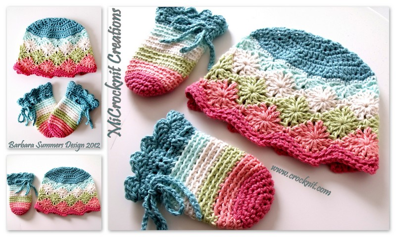 Crochet Baby Gloves Pattern : MICROCKNIT CREATIONS: Crochet Baby Mittens RAINBOW