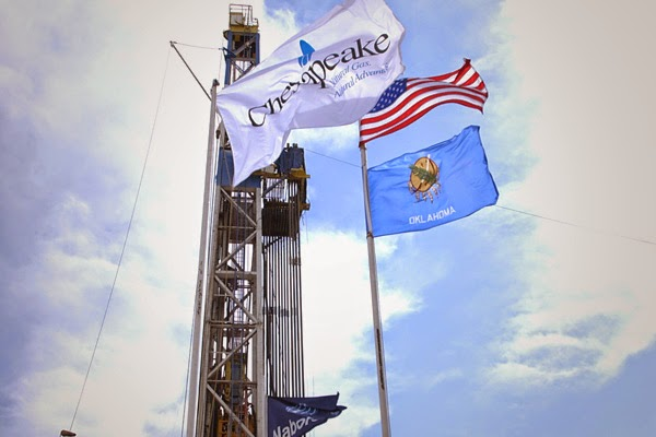 Chesapeake Energy flag flying high