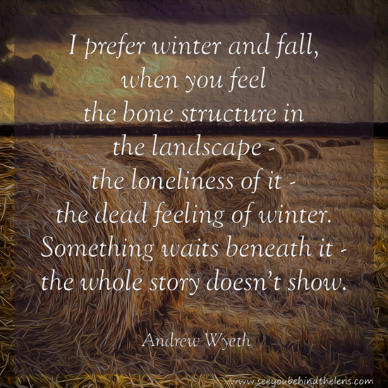 DVP Thoughtful Thursday Photography Quote - Andrew Wyeth