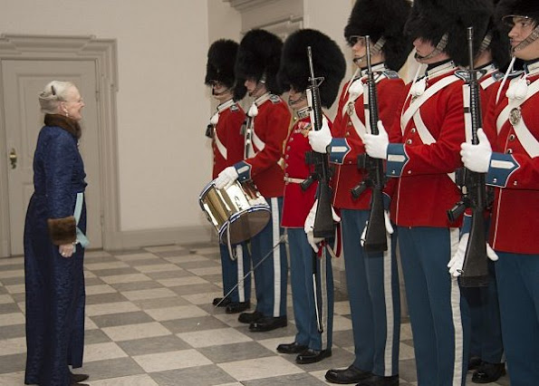 Queen Margrethe II of Denmark, Crown Princess Mary, Crown Prince Frederik of Denmark participated in New Year's Reception for the Diplomatic Corps