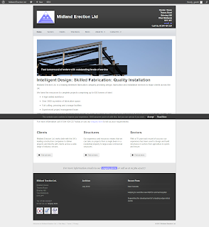 Midland Erection Ltd. website home page - steelwork fabricators