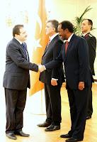 Kimse Yok Mu President Ozturk with Somali President Mohamud