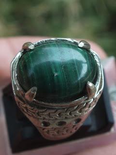 cincin batu malachite