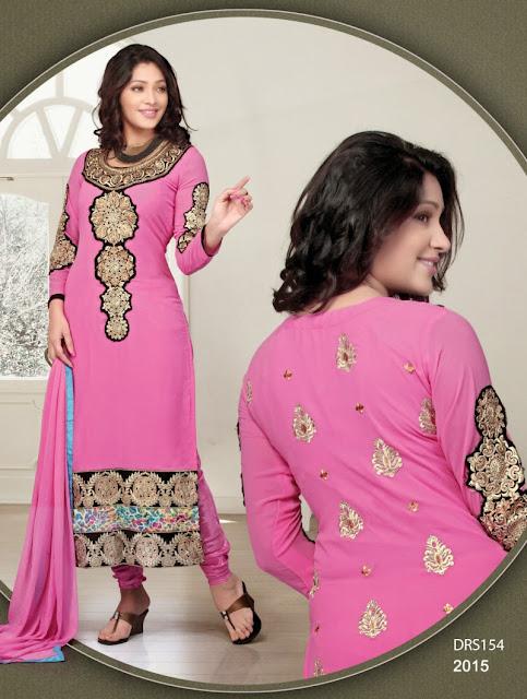 Designer Georgette Embroidered With Sleeve Salwar Kameez