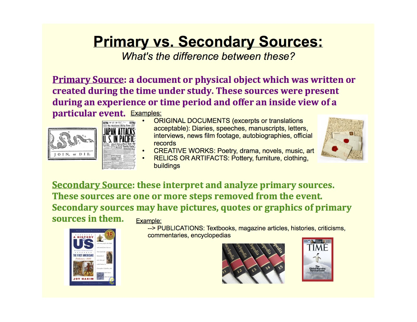 Primary vs. Secondary Sources - International Students' Guide to ...